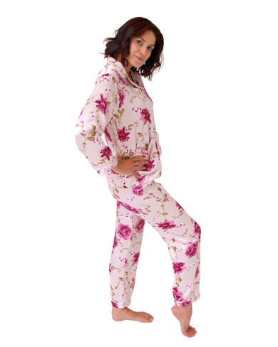 Patterned Satin Pyjamas
