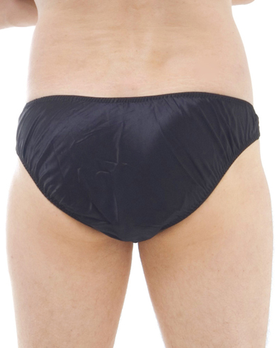 Satin Silk High Leg Brief