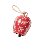 Hand Painted Snowflake Design Bell Decoration