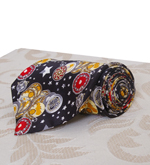 Silk Tie with Time and Space Design